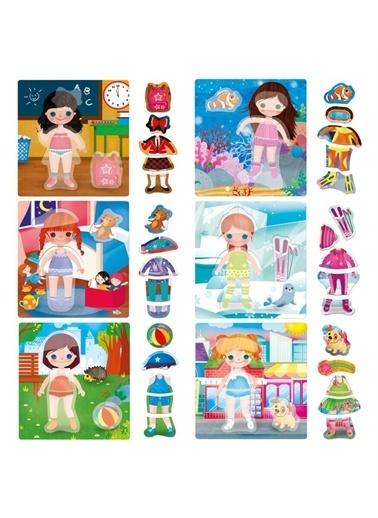 Headu Headu Mu24827 Montessori My Little Dolls Kıyafet Giydirme Çocuk Oyunu Renkli